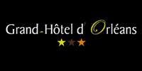 logo fond noir grand hotel orléans